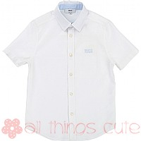 Short Sleeve White Shirt by BOSS