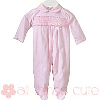 Girls Pink Dobby Babygrow by Blues Baby