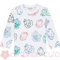 Boys Baby Multi Tiger Long Sleeve T-shirt by Kenzo