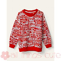 Boys Red Oilily Multi Logo Heritage Sweater by Oilily