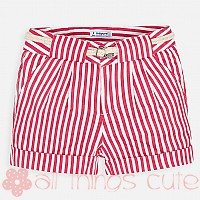 Red Stripe Shorts by Mayoral