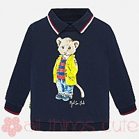 Toddler Navy Lion Sweater by Mayoral